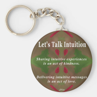 Let's Talk Intuition Keychain
