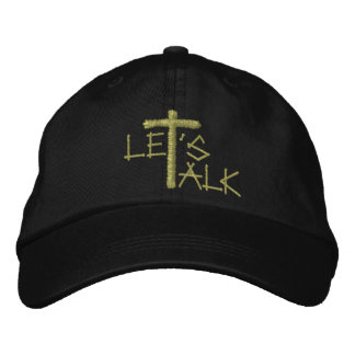 Let's Talk (Jesus) Embroidered Baseball Cap