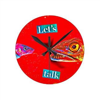 Let's Talk Round Clock