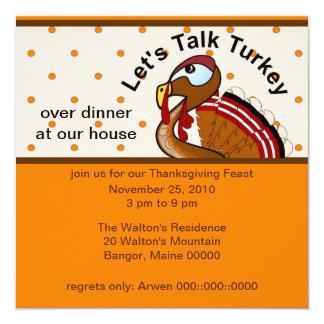 Let's Talk Turkey Invitation