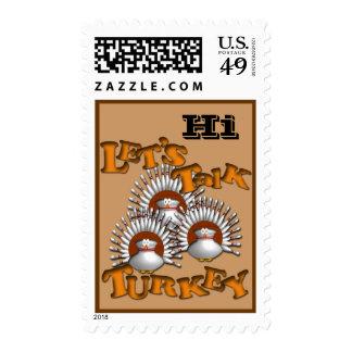 Let's Talk Turkey Postage Stamps