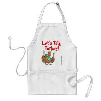 Let's Talk Turkey! Thanksgiving Holiday Apron