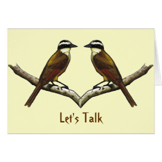 Let's Talk: Two Birds Facing: Reconciliation Card