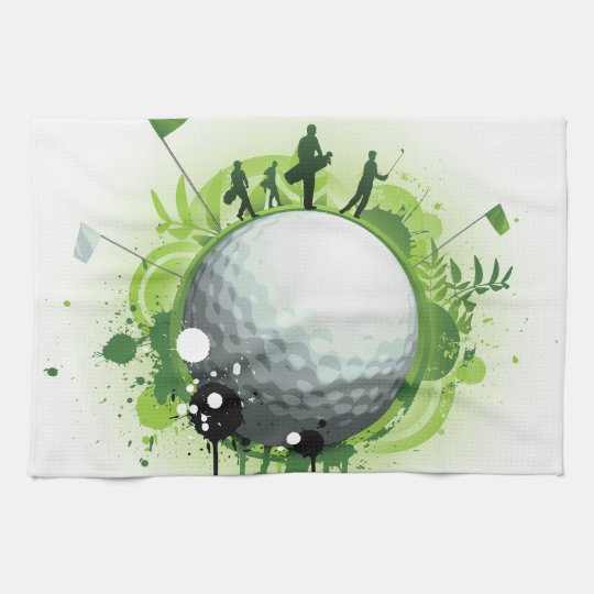 Let's Tee Off For Golf Hand Towel
