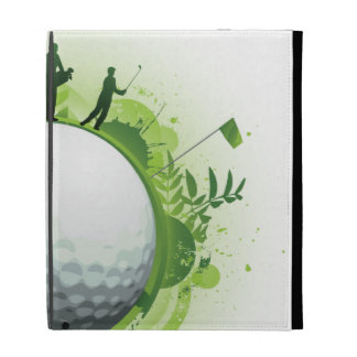 Let's Tee Off For Golf iPad Folio Cover