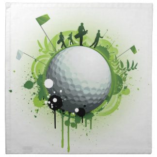 Let's Tee Off For Golf Napkin