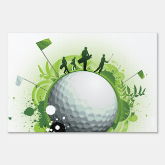 Let's Tee Off For Golf Sign