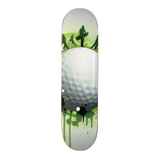 Let's Tee Off For Golf Skateboard Deck