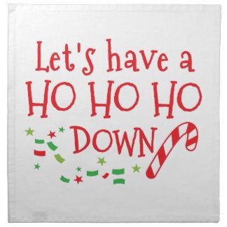Lets tiene HO HO HO abajo (el diseño divertido del Servilleta De Papel