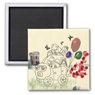 Let's travel 2 inch square magnet
