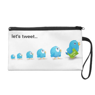 Let's Tweet Wristlet