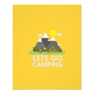 """Lets va a acampar folleto 4.5"""" x 5.6"""""""