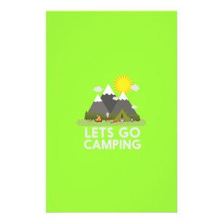 """Lets va a acampar folleto 5.5"""" x 8.5"""""""