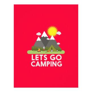 """Lets va a acampar folleto 8.5"""" x 11"""""""