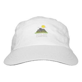 Lets va a acampar gorra de alto rendimiento
