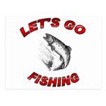 Lets va a pescar postal