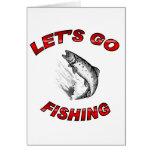 Lets va a pescar tarjetas