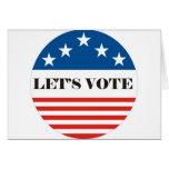 let's vote card