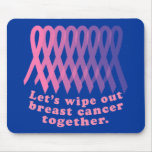 Let's Wipe Out Breast Cancer Together Mouse Pad