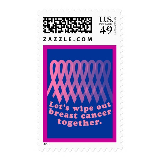 Let's Wipe Out Breast Cancer Together Postage