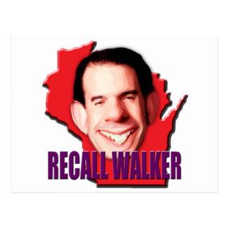 Let's work to Recall Scott Walker Postcard