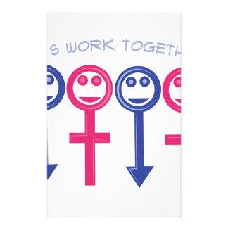 Let's Work Together Stationery