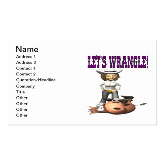 Lets Wrangle 2 Business Cards