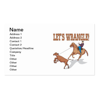 Lets Wrangle Business Card