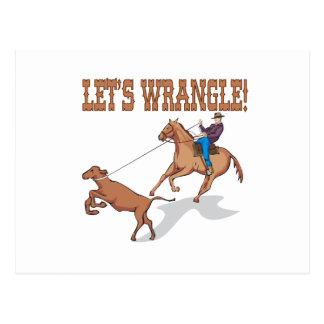 Lets Wrangle Postcard