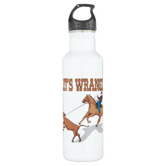 Lets Wrangle Stainless Steel Water Bottle