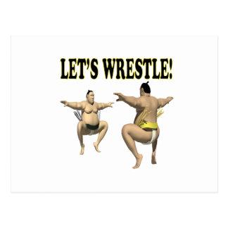 Lets Wrestle 3 Postcard
