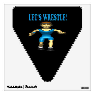 Lets Wrestle 4 Wall Decal