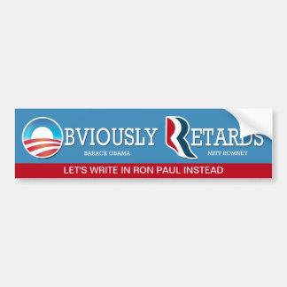 Let's Write In Ron Paul Instead. Bumper Sticker