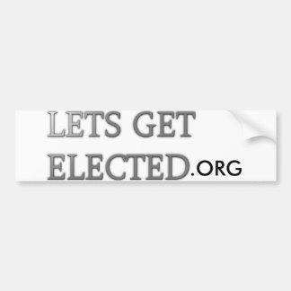 LetsGetElected Bumper Sticker