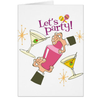 Let'sParty Greeting Card