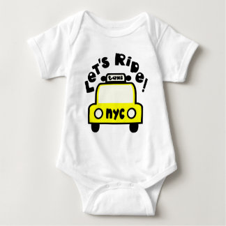 Let'sRide! With NYC Retro Taxi Cab Baby Bodysuit