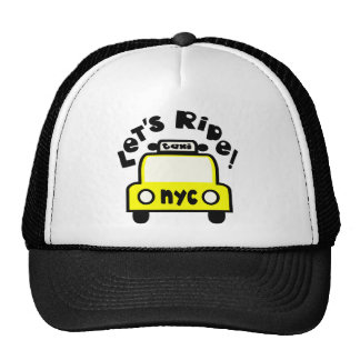 Let'sRide! With NYC Retro Taxi Cab Trucker Hats