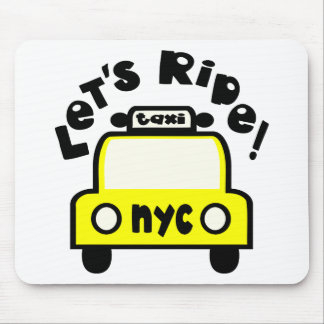 Let'sRide! With NYC Retro Taxi Cab Mouse Pad