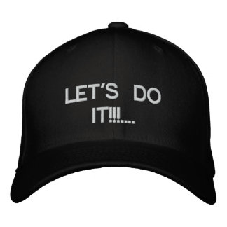 LETS'S DO IT!... WILD THING!... EMBROIDERED BASEBALL HAT