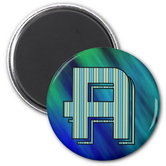 Letter A 2 Inch Round Magnet