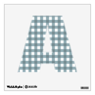 Letter A 360 Custom Wall Decal