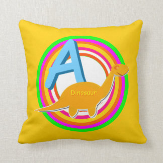 Letter A Alphabet Learn your ABC Name Throw Pillow