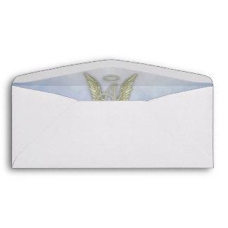 Letter A Angel Monogram Envelope