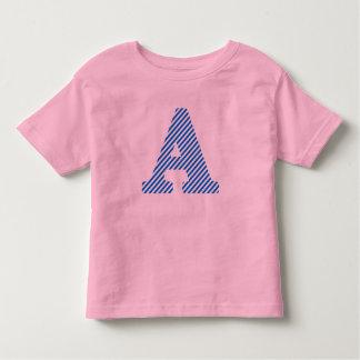 Letter A - Blue Toddler T-shirt