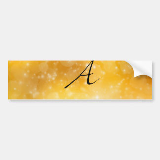Letter A Car Bumper Sticker