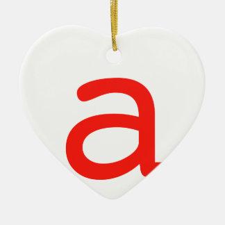 Letter A Ceramic Ornament