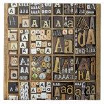 Letter A Ceramic Tiles