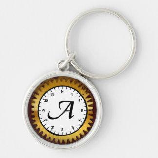 Letter A Clockwork Premium Keychain