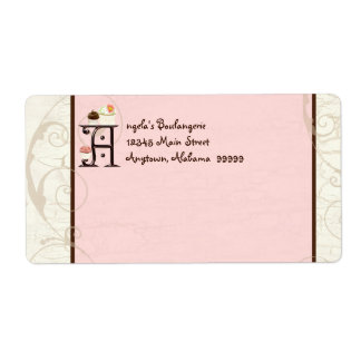 Letter A  Cupcake Business Address Mailing Labels