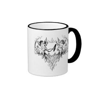 Letter A Cupid Monogram mug